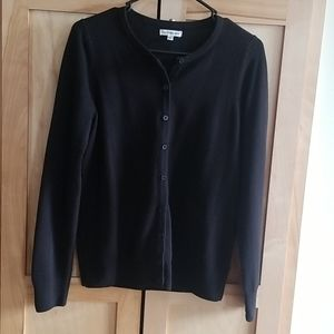 Croft & Barrow Classic Black Cardigan